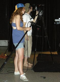 Emily Randolph and Jhaan Elker catch the sound and action at Camera Action, Group Action