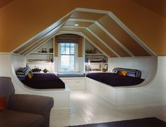 Built In Bed Attic Design Ideas, Pictures, Remodel, and Decor