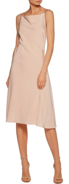 On SALE at 60% OFF! Embellished Stretch-silk Midi Dress by Brunello Cucinelli. Cut to be fitted at the bust and waist, slightly loose at the hip . Mid -weight, slightly stretchy fabric . Model is ...