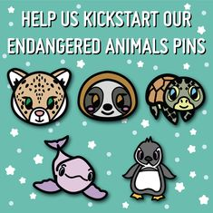 Caitlin McGovern is raising funds for Endangered Animals Hard Enamel Pins on Kickstarter! This project aims to raise awareness of some of the worlds most endangered animals through some super cute enamel pins!