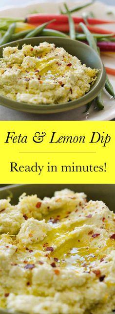 lemon and feta cheese dip
