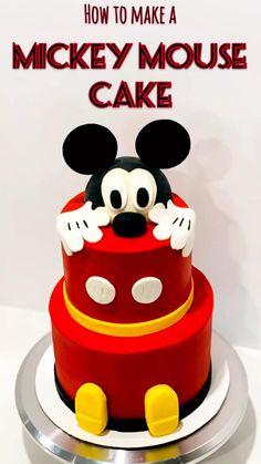Mickey Birthday Cakes, Mickey Mouse Birthday Decorations, Mickey Cakes, Themed Birthday Cakes, Mickey Party, Elmo Party, Elmo Birthday, Dinosaur Party, Dinosaur Birthday
