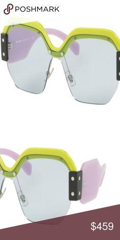 213b8bdb020f NWT Miu Miu MU 09SS VIV4Q2 Yellow Sunglasses Brand  Miu Miu Model  MU 09SS
