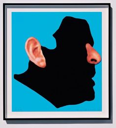 "Happy Birthday to #JohnBaldessari, born on this day, June 17th, 1931 in National City, CA. ""It's human desire to be understood. And we always feel we're not understood."" This is 'Noses and Ears, Etc.: The Gemini Series: Profile with Ear and Nose (Color)' (2006)."