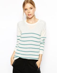 Enlarge Ganni Striped Sweater