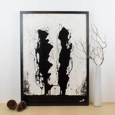 Oscura presencia, 2009, pintura abstracta | Antic&Chic