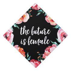 The Future is Female Graduation Cap Topper, Adult Unisex, Misty Rose / Tomato / Light Pink Custom Graduation Caps, Graduation Cap Toppers, Graduation Cap Designs, Graduation Cap Decoration, Graduation Diy, Graduation Centerpiece, Graduation Quotes, Graduation Celebration, Graduation Announcements