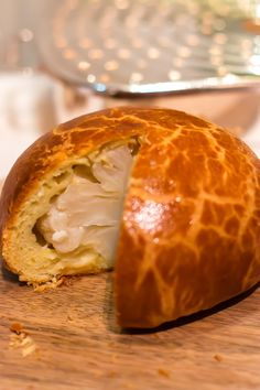 Cauliflower with Comte cheese. baked inside brioche. Alain Ducasse Restaurant at the Plaza Athenée
