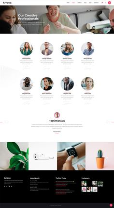 Present your amazing team in no time with Arrosa WordPress theme. Ux Design, Graphic Design, Creative Portfolio, Creative Director, Creative Business, Wordpress Theme, Colorful, Amazing, Modern