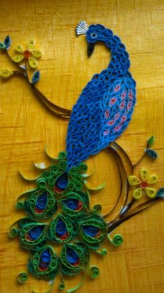 Quilled - Peacock - by:  Irby Myran