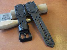 Handmade G-Shock leather watch strap black от BCLeatherWorks