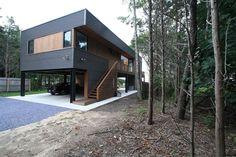 Modern Modular Prefab House | Metal Cedar Siding Carport | Hamptons New York | RES4