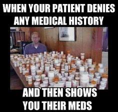 Past medical history vs med rec Medical Memes, Nursing Memes, Medical History, Funny Nursing, Healthcare Memes, Emt Memes, Funny Memes, Funny Medical, Nursing Career