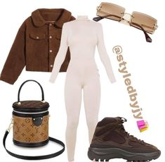 Boujee Outfits, Lazy Day Outfits, Baddie Outfits Casual, Swag Outfits For Girls, Cute Swag Outfits, Curvy Outfits, Retro Outfits, Winter Fashion Outfits, Yeezy Boots