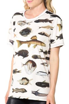 Fish LA Tee - LIMITED (US ONLY $50USD) by Black Milk Clothing