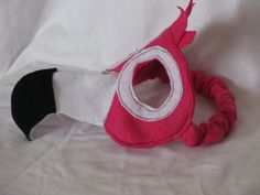 pink flamingo kids felt mask by sundazed on Etsy