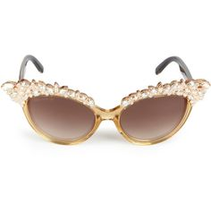Dsquared2 Cat Eye Crystal Acetate Sunglasses ($810) ❤ liked on Polyvore featuring accessories, eyewear, sunglasses, glasses, gafas, uv protection sunglasses, mirror sunglasses, crystal sunglasses, acetate sunglasses and logo lens sunglasses