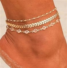 A gold anklet is one of the new products we have on the market today. Gold Anklet, Silver Anklets, Silver Toe Rings, Trendy Fashion Jewelry, Silver Stars, Chokers, Chain, Style, Swag