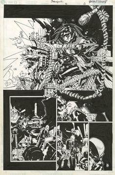 Steampunk #12 page 5 by Chris Bachalo Comic Art