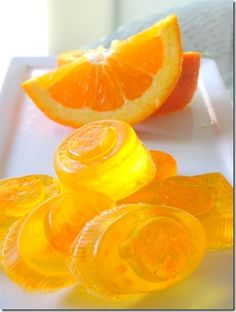 Natural Citrus Soaps made with candy box insert as a mold.  By Crafts A La Mode.