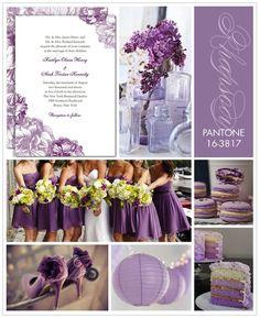 Lavender inspired wedding. Those purple heels are to die for! Wedding invitation by Wedding Paper Divas.