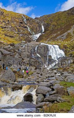 Mahon Falls in flood, Comeragh Mountains, County Waterford, Ireland.