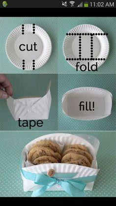 Présentoir gâteaux assiette en carton