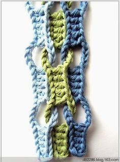 Crochet Knitting Handicraft: Interesting crochet chart.  Estou imaginando esse resultado, mas feito de macramê!!
