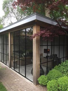 Pergolas are a shady, garden structure whose beginnings date back to ancient Egypt, Greece and Rome, and were common features in early Renaissance gardens throughout Europe. House Extension Design, House Design, Back Gardens, Outdoor Gardens, Garden Studio, Marquise, Garden Office, House Extensions, Garden Structures