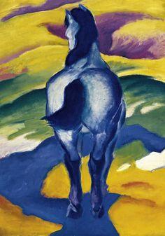 Franz Marc - Blaues Pferd II (70,0 x 100,0 cm)
