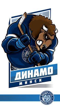 Dinamo Minsk #KHL Ilya Kovalchuk, Nfl, Hockey Logos, Sports Art, Sports Logos, Portfolio, Ice Hockey, Logo Design, Baseball
