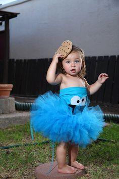 Cookie monster costume. -cookie headband