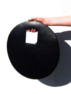 Round circle leather bag