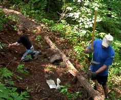 Want to volunteer? Try helping repair trails in the Smoky mtns...