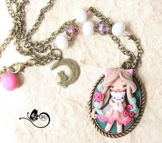 polymer clay necklace /country collection/ fimo by ZingaraCreativa