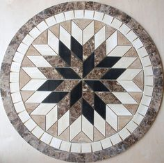 "32"" Marble Travertine Tile Medallion mosaic Stone Flloring or wall design #51"