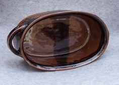 Handmade Ceramic Casserole Ovenware in Brown and Black Stoneware Pottery