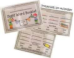 Sight Word Booklets....looks like a good homework resource :)