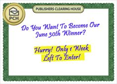 pch 10000 a week for life sweepstakes Last Dream, Win For Life, Lottery Results, Winner Announcement, Enter Sweepstakes, Publisher Clearing House, Congratulations To You, Winning Numbers, Wish Come True