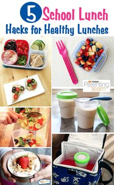 Healthy school lunch ideas that are easy to make with fresh ingredients! Lunchbox hacks