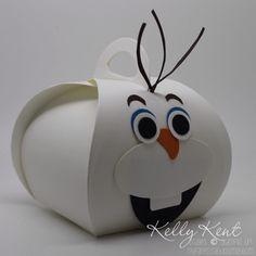 Olaf Curvy Keepsake Box.  Kelly Kent - mypapercraftjourney.com.