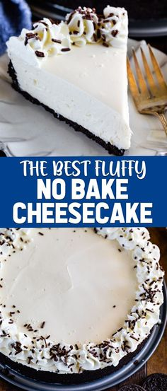 Easy No-Bake Cheesecake Recipe (FOOLPROOF!) This is the most perfect Easy No Bake Cheesecake Recipe! It's a foolproof recipe full of cream cheese with an Oreo crust. Everyone loved this cheesecake! Easy No Bake Cheesecake, Baked Cheesecake Recipe, Chocolate Cheesecake, No Bake Desserts, Dessert Recipes, No Crust Cheesecake, Cheesecake Desserts, Dessert Ideas, Chocolate Cake