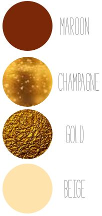 Add other colors to your shades of maroon like gold or champagee #wedding #colors