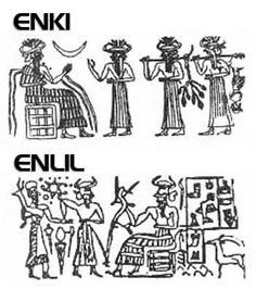 Sumerian God Enki | others in the Sumerian pantheon of extreme interest: Enlil and Enki ...