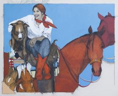 """""""Ride With Me"""" by cowgirl artist Donna Howell-Sickles"""