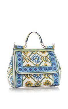 Maiolica Tile Top Handle Bag by DOLCE & GABBANA for Preorder on Moda Operandi