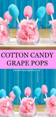 Dip cotton candy grapes in marshmallow creme and colored sugar for a fruity version of the classic carnival treat. What a fun summer treat party dessert. Grape Recipes, Fruit Recipes, Sweet Recipes, Recipies, Candied Grapes Recipe, Candied Fruit, Cotton Candy Grapes, Candy Apples, Taffy Grapes