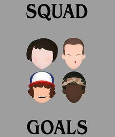Stranger Things⚠️   Squad Goals✨