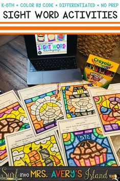 Looking for differentiated sight word activities to keep your students engaged, improve reading fluency, and increase comprehension skills?  These color by code sight word sheets include words from the Dolch and Fry high frequency word lists and will keep your students begging for more!  Click the link to check these Thanksgiving theme activity sheets out and see for yourself!  #sightwords #dolch #fry #differentiated #wordwork #morningwork #thanksgiving #november #mrsaverysisland