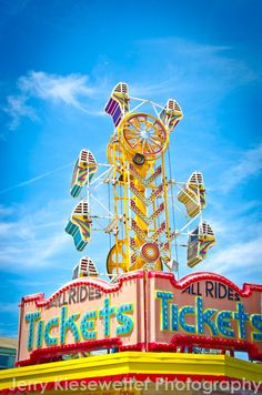 Zipper Carnival Ride Photo Vintage Art by JKiesewetterPhotos - #Zipper #carnival #OCMD - $20
